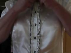 vintage lingerie masurbating on daybed
