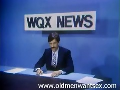 anchorman acquires his penis sucked under the desk