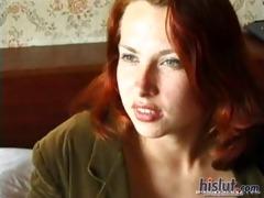 alena is a classic redhead hotty