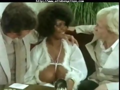 vintage foursome dark ebon cumshots ebon swallow