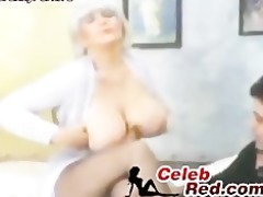 busty retro glamour woman drilled