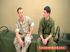 a marine and an army -