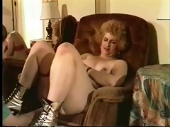 vintage grandmom fucking hard on the sofa