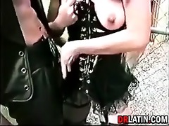 vintage leather wearing fuckers