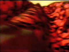red retro costume black underware