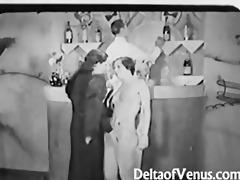 antique porn 194961s - ffm threesome - nudist bar