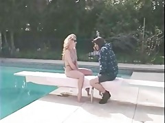 golden-haired d like to fuck ripped by the pool