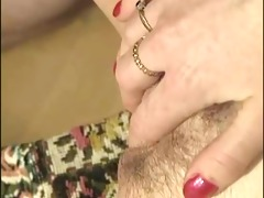 woman fingers a lad while he is is copulates her