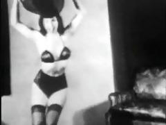 vintage stipper film - b page hat dance