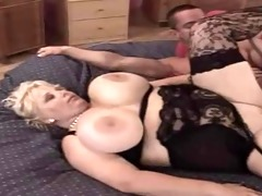 a classic blonde shorthair-bbw-milf by young guy
