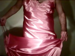 rose satin nightie 11
