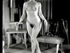 unknown model dancing in someones livingroom
