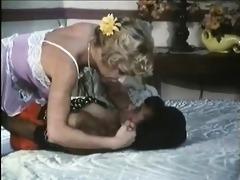 lesbian sex scene in a vintage german porn movie