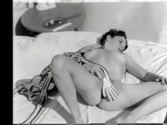 vintage undressed with a skeleton