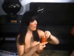 five vintage nudist honeys playing around
