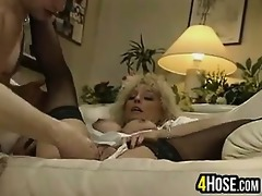 indecent golden-haired getting fisted