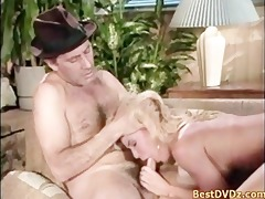 hot golden-haired angel having sex on bed