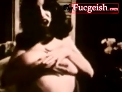 really old vintage film of a busty black brown