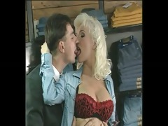 glamorous breasty blond anal double penetration