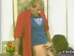 kim bernard - vintage pornstar oral-sex play