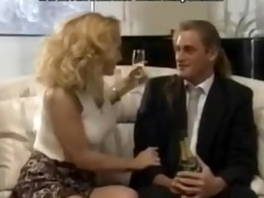 sexy bridesmaid gets double penetration in a
