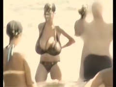 retro big breasts mix on russian beach