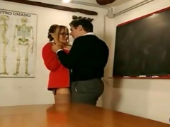 gorgeous mmf teacher is blackmailed by student