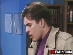 latin office worker having sex