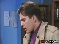 latin office worker having sex