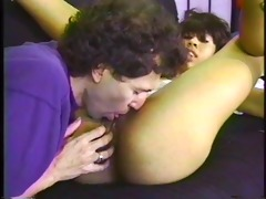 fascinating youthful black girl white cocked on a
