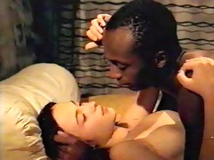 darksome brown white gal with darksome lover -