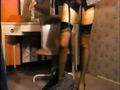 shes a lady - vintage stockings striptease nylons
