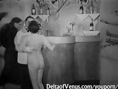 antique porn 1071710s - ffm three-some - nudist