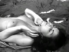 lady shows all 64 (black and white vintage)