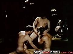 seventies homosexual disco threeway - grease
