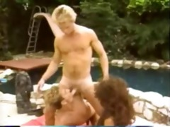bisex by the pool