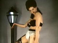 leopardskin striptease - vintage stockings large